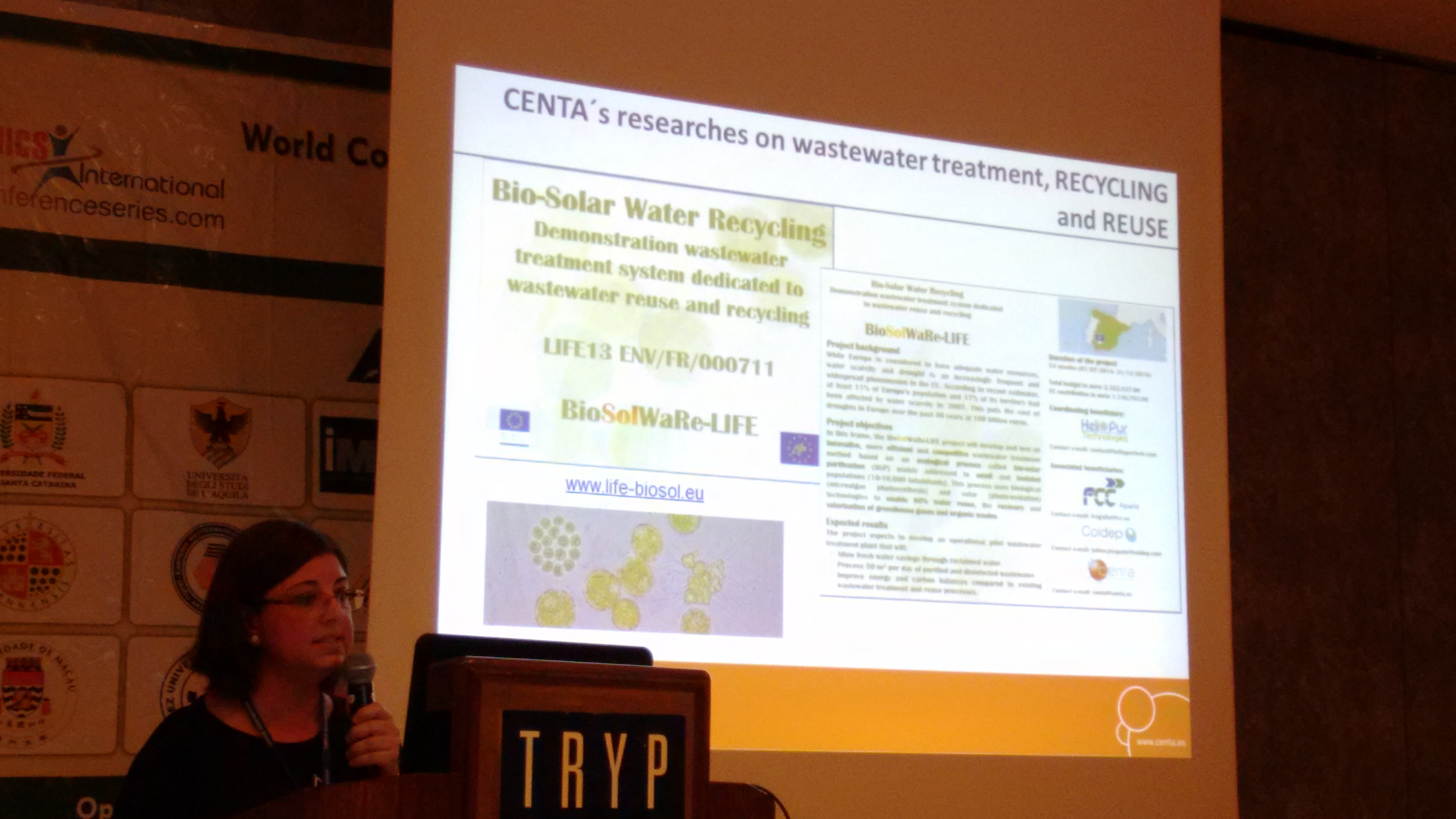 BioSolWaRe project was presented by CENTA in the World Congress and Expo on Recycling